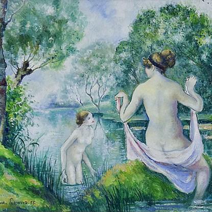 Deux Baigneuses dans un Paysage - Georges Manzana Pissarro (1871 - 1961)