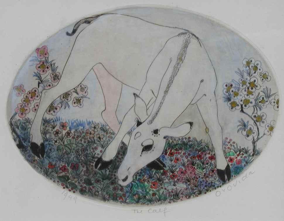 The Calf - Orovida Pissarro (1893 - 1968)