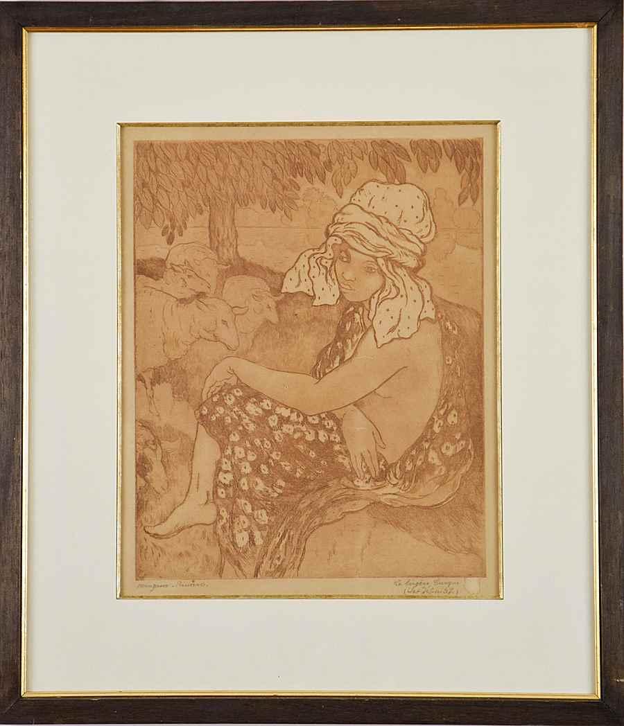 La Bergère Turque  - Georges Manzana Pissarro (1871 - 1961)