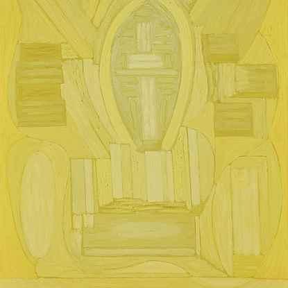 Composition Inspirée par le Credo de la Messe en C Mineur de Bach - Serge  Charchoune (1888 - 1975)