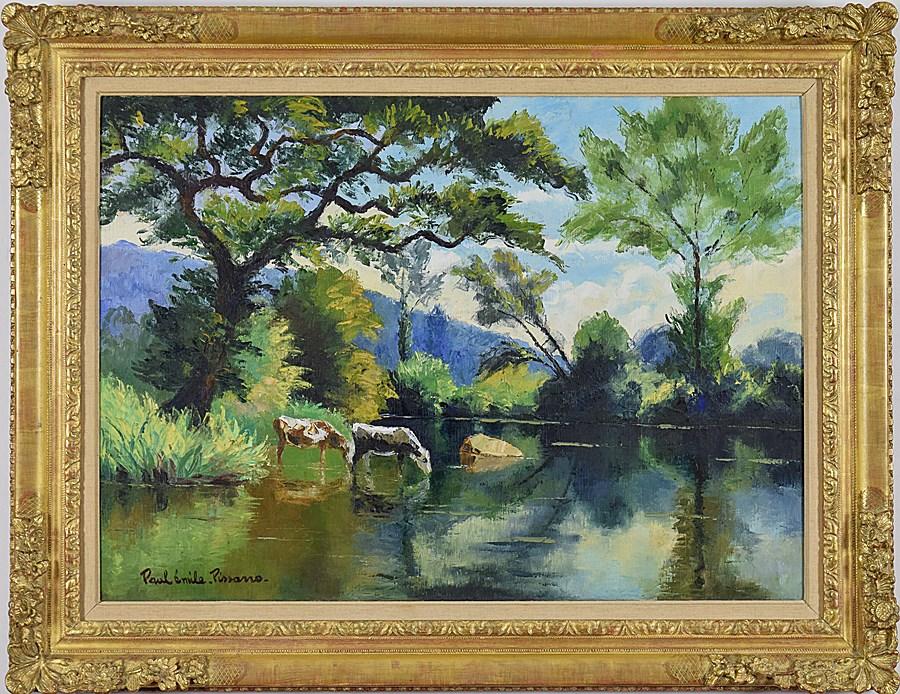 L'Abreuvoir - Paulémile Pissarro (1884 - 1972)