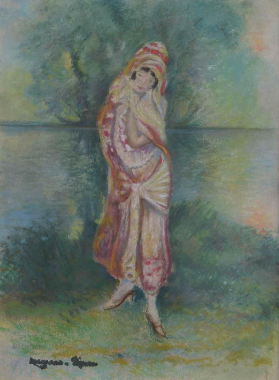 Femme en Costume Oriental - Georges Manzana Pissarro (1871 - 1961)