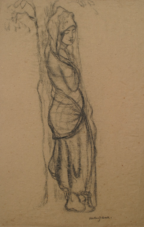 Jeune Femme Orientale - Georges Manzana Pissarro (1871 - 1961)