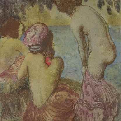 Les Baigneuses - Georges Manzana Pissarro (1871 - 1961)