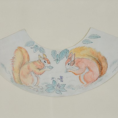 Decorative Squirrel Design - Georges Manzana Pissarro (1871 - 1961)