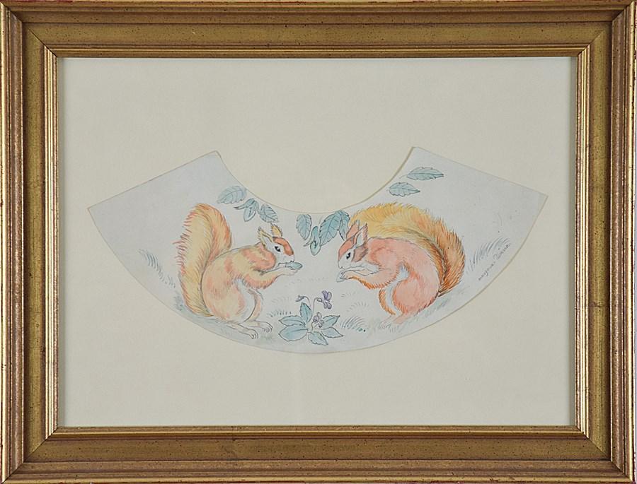 Decorative Squirrel Design - Georges Manzana Pissarro (1871 - 1961)