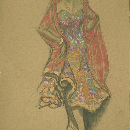 Elégante au Châle Rose - Georges Manzana Pissarro (1871 - 1961)