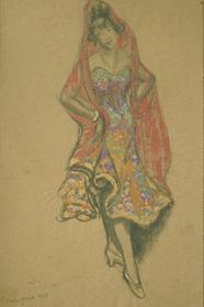 Georges Manzana Pissarro - Elégante au Châle Rose