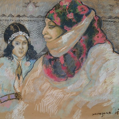 Moroccan Woman with Girl - Georges Manzana Pissarro (1871 - 1961)