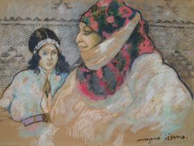 Georges Manzana Pissarro - Moroccan Woman with Girl