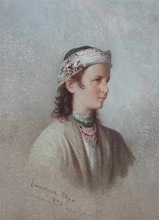 Franciszek Tepa - Jeune Montagnarde des Environs de Truskaniva