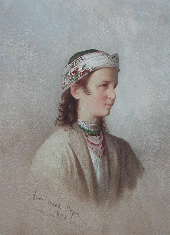 Jeune Montagnarde des Environs de Truskaniva - Franciszek Tepa (1829 - 1889)