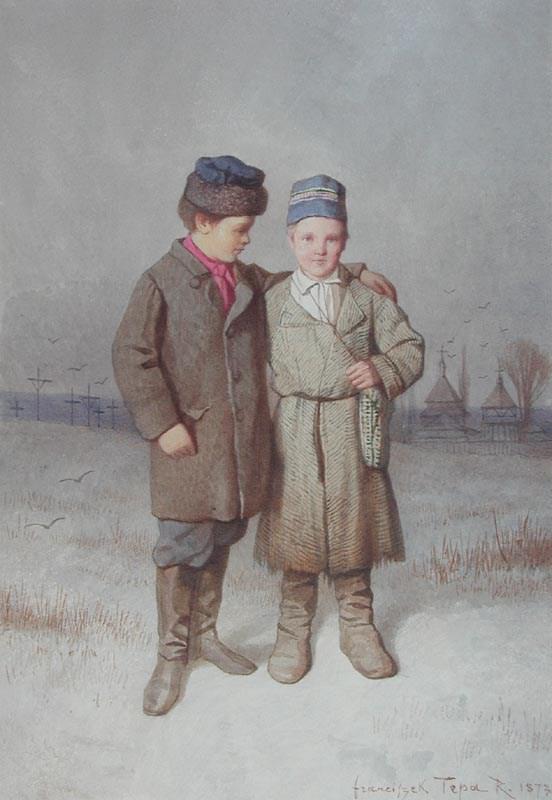 Retour des Enfants de l'École des Enviros de Ztouzow - Franciszek Tepa (1829 - 1889)