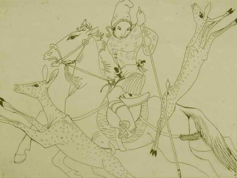 The Hunting Prince - Orovida Pissarro (1893 - 1968)