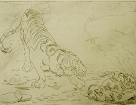 Orovida Pissarro - Tiger and Python