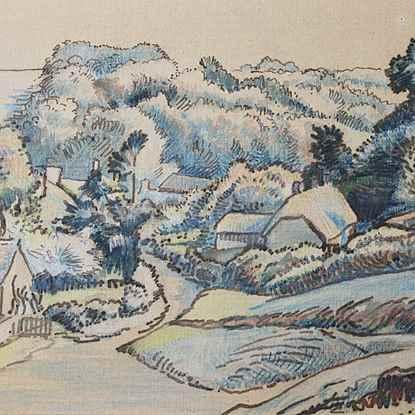 Milton Bottom, East Knoyle - Lucien Pissarro (1863 - 1944)