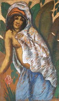 Georges ManzanaPissarro - Woman with a White Veil