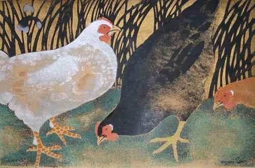 Georges ManzanaPissarro - Three Hens