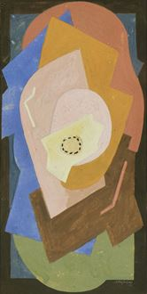 "Albert Gleizes Catalogue Raisonné, Albert Gleizes, Gleizes, Abbaye de Créteil, Abstract, Cubism, Section d'Or, Impressionism, school of paris, founder of cubism, self-proclaimed founder of cubism, French painter, gouache on paper, Albgleizes 22, Albgleizes, Salon d'Automne, Moly-Sabata,  La Section d'Or, Galeries Dalmau, Paris World's Fair, Robert Delaunay, Paris, Salon des Indépendants, 1881 – 1953, 1881, 1953, for sale, painting, artwork, Gleizes painting, Du ""Cubisme"", Abstraction-Création, P"