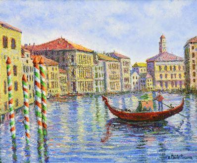 H. ClaudePissarro - Crépuscule à Venise
