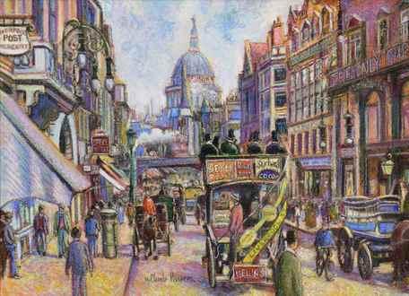 H. ClaudePissarro - Fleet Street