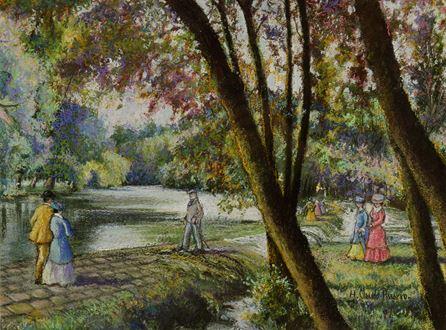 H. ClaudePissarro - Le Barrage du Vey (Clécy)