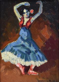 Ludovic-RodoPissarro - Danseuse Espagnole