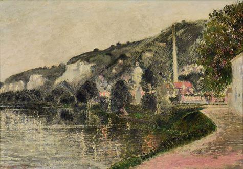 Georges ManzanaPissarro - Brume et Soleil du Matin (The Seine at Les Andelys)