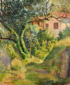 Georges ManzanaPissarro - Le Chemin à l'Annonciade (Menton)