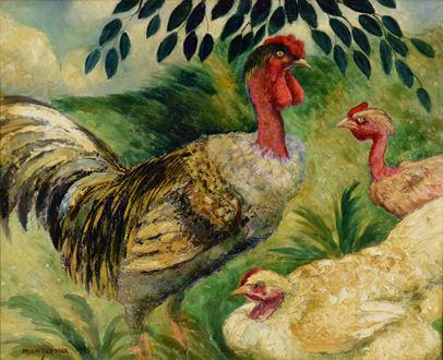 Georges ManzanaPissarro - Cou Cou nu et ses poules