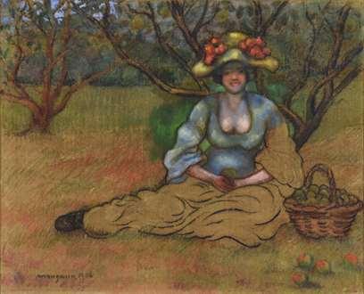 Georges ManzanaPissarro - Récolte des Pommes