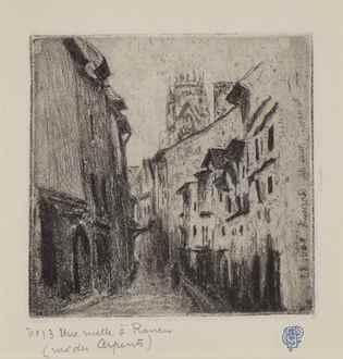 CamillePissarro - Une Ruelle à Rouen (Rue des Arpents)
