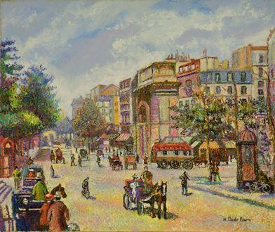 H. ClaudePissarro - Les Fiacres, Boulevard Saint-Denis (Paris)