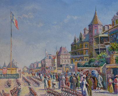 H. ClaudePissarro - En Fin de Matinée, les Planches (Deauville)