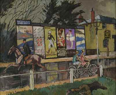 Ludovic-RodoPissarro - Posters on Sheen Road, London