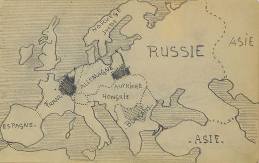 PaulémilePissarro - Carte de l'Europe