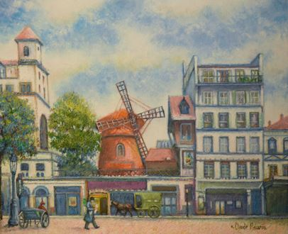 H. ClaudePissarro - Matin-Tôt au Moulin Rouge (Paris)