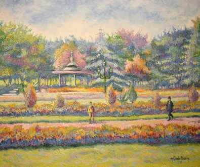 H. ClaudePissarro - Belle saison au jardin Joudon