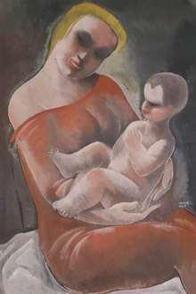 BélaKádár - Mother and Child