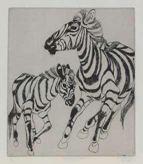 OrovidaPissarro - Zebra and Foal