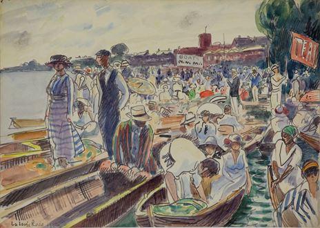 Ludovic-RodoPissarro - Henley Regatta on the Thames