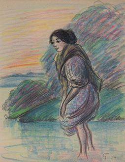 FélixPissarro - Woman Paddling