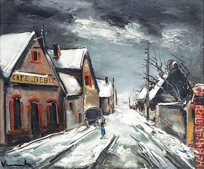 Mauricede Vlaminck - Rue de Village Sous la Neige