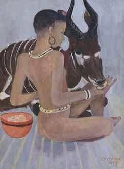 OrovidaPissarro - Dinka with a Bongo