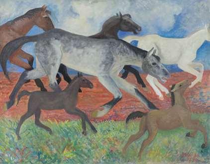 OrovidaPissarro - Migrating Horses
