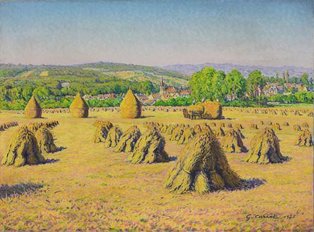 GustaveCariot - Moissons près du Village