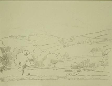 OrovidaPissarro - Landscape in Devon