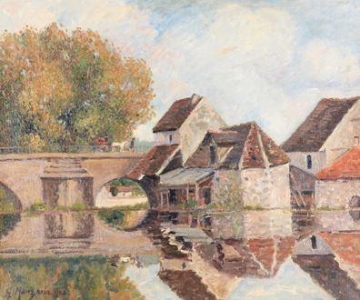 Georges ManzanaPissarro - Petit Lavoir du Pont Pierre, Morêt-sur-Loing