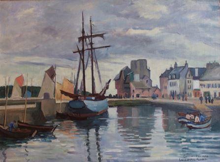 Ludovic-RodoPissarro - Concarneau Harbour, Brittany