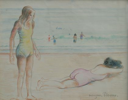 Georges ManzanaPissarro - Two Figures by the Sea